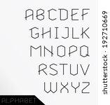 paper cut alphabet set.... | Shutterstock .eps vector #192710669