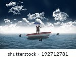 peaceful businessman holding... | Shutterstock . vector #192712781