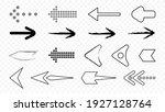 contour and pixel black arrows... | Shutterstock .eps vector #1927128764