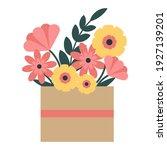 Flowers In A Cardboard Box...