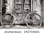 Black And White  Old Bicycle ...