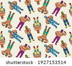 seamless pattern with lucha... | Shutterstock .eps vector #1927153514
