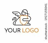 sphinx line art logo design... | Shutterstock .eps vector #1927155041