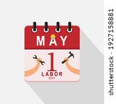 may 1  calendar icon with... | Shutterstock .eps vector #1927158881