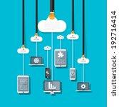 cloud computing concept design. | Shutterstock .eps vector #192716414