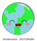 cute cartoon vector blue and...   Shutterstock .eps vector #1927164284