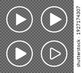 white play button icons... | Shutterstock .eps vector #1927174307