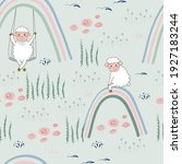 seamless pattern with cute... | Shutterstock .eps vector #1927183244
