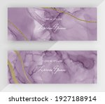 purple alcohol ink with gold... | Shutterstock .eps vector #1927188914