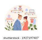 happy family with newborn baby... | Shutterstock .eps vector #1927197407