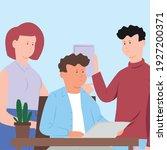 teamwork meeting people office... | Shutterstock .eps vector #1927200371