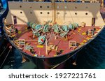 Small photo of Mooring and anchor winches at the forecastle of container vessel