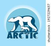 polar bear with little bear cub ...   Shutterstock .eps vector #1927229657