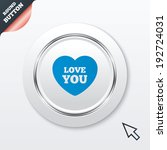 heart sign icon. love you...