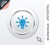 light lamp sign icon. bulb with ...
