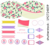 party set. gift box template. ...   Shutterstock .eps vector #192724859