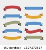 ribbon elements. starburst... | Shutterstock .eps vector #1927273517