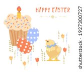 Vector Easter Set With Cute...