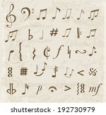 music notes and signs hand... | Shutterstock .eps vector #192730979