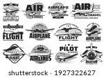 pilot courses and flight tours...   Shutterstock .eps vector #1927322627