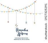 cute ramadan kareem greeting... | Shutterstock .eps vector #1927325291