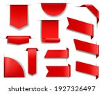 red banners and labels for web... | Shutterstock .eps vector #1927326497