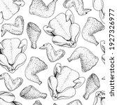 chicken meat seamless pattern.... | Shutterstock .eps vector #1927326977