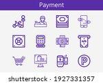 premium set of payment line... | Shutterstock .eps vector #1927331357