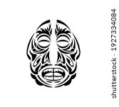 mask in the style of polynesian ... | Shutterstock .eps vector #1927334084