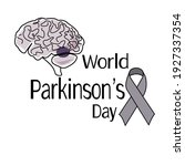 world parkinson s day  symbolic ... | Shutterstock .eps vector #1927337354