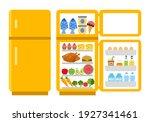 fridge open and close concept... | Shutterstock .eps vector #1927341461