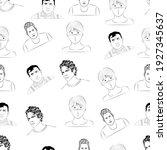 people  men avatar in linear... | Shutterstock . vector #1927345637