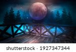 night cold seascape  fantasy... | Shutterstock . vector #1927347344