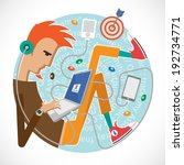 illustration of a programmer  a ... | Shutterstock .eps vector #192734771