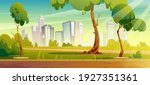 city park  summer or spring... | Shutterstock .eps vector #1927351361
