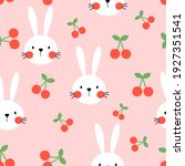 seamless pattern with rabbit... | Shutterstock .eps vector #1927351541