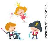 children's costumes | Shutterstock .eps vector #192735314