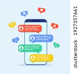 Online Chat Messages Text...