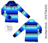 striped polo neck knitted... | Shutterstock .eps vector #192736241
