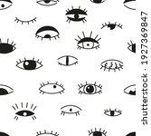 the black and white seamless... | Shutterstock .eps vector #1927369847