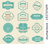 blue vintage and retro badges... | Shutterstock .eps vector #192737699