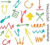multi colored arrows. bright...   Shutterstock .eps vector #1927377941