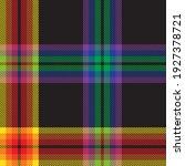 rainbow plaid  checkered ...   Shutterstock .eps vector #1927378721