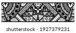 polynesian tattoo pattern maori ... | Shutterstock .eps vector #1927379231