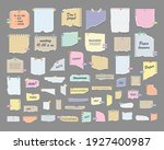 paper notes on stickers. sticky ... | Shutterstock .eps vector #1927400987