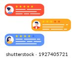 user reviews and feedback...   Shutterstock .eps vector #1927405721