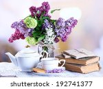 composition with teapot   mug... | Shutterstock . vector #192741377