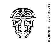 mask in the style of polynesian ... | Shutterstock .eps vector #1927457051