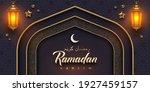 ramadan kareem vector... | Shutterstock .eps vector #1927459157