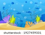 under the sea background.... | Shutterstock .eps vector #1927459331